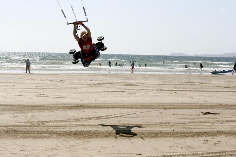 kite landboarding lessons improver