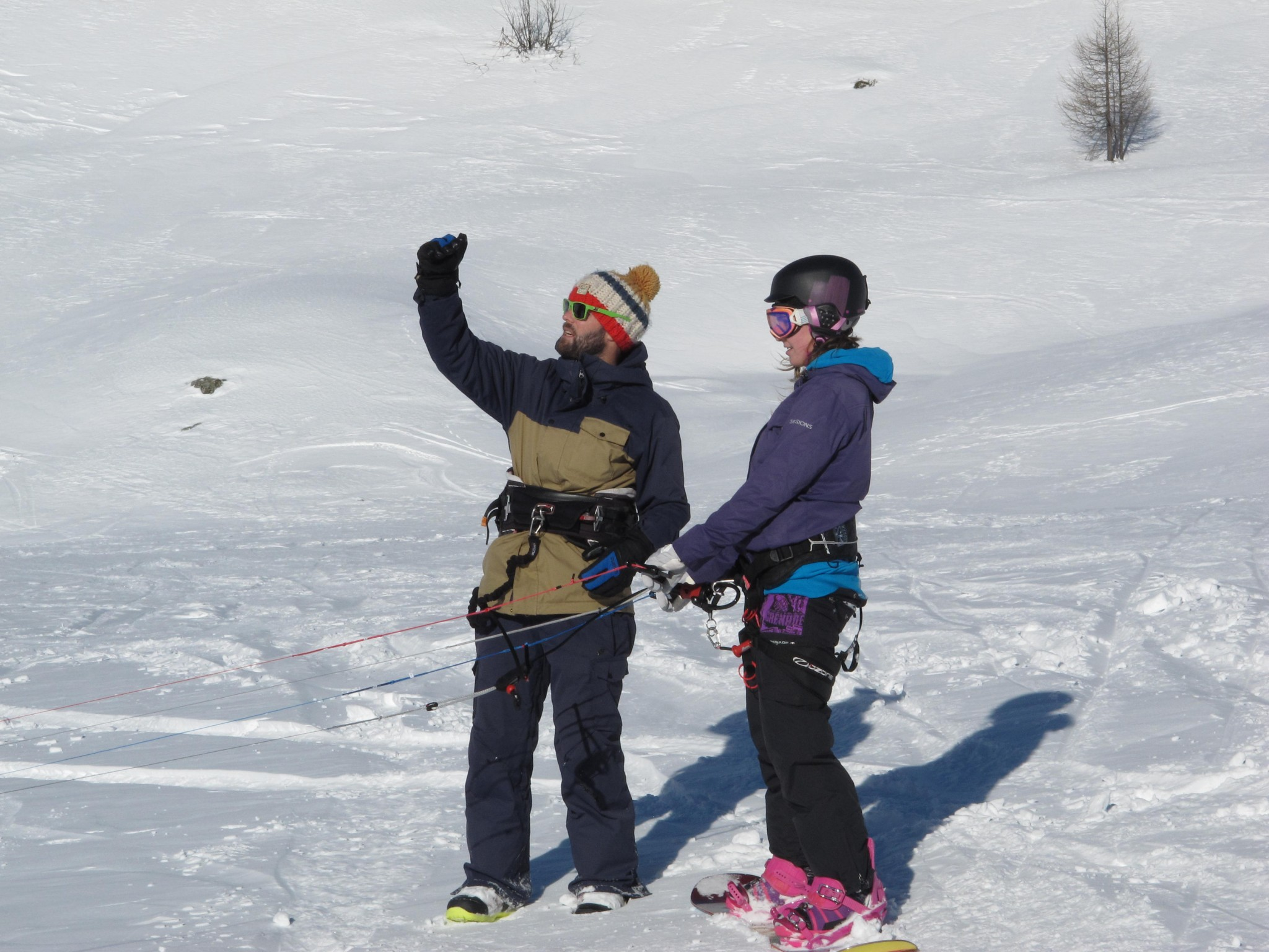 Snowkiting lessons 1
