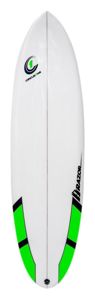 "Circle One Razor 5'8"" Round Tail Surfboard"