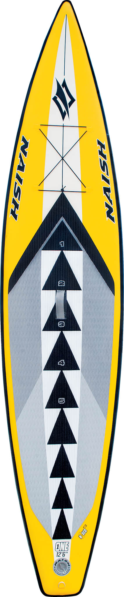 "The Naish One Nisco 12'6"" is hands down, the best-selling inflatable SUP around the world for all-around cruising, long-distance touring and N1SCO one design racing."